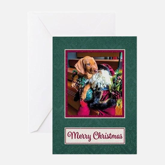 Vizsla Christmas Greeting Cards Cc009