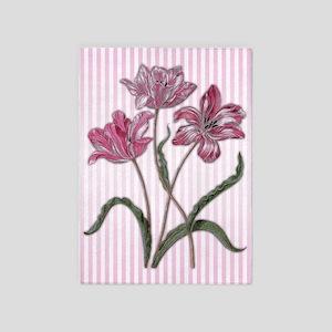 Maria Sibylla Merian: Three Tulips 5'x7'Area Rug