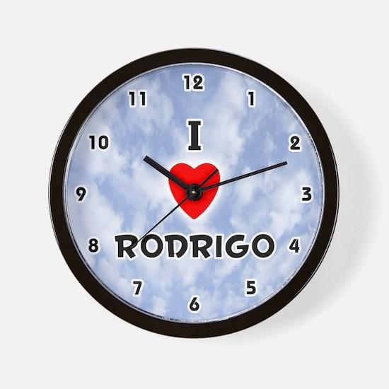 I Love Rodrigo (Black) Valentine Wall Clock