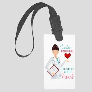 Cute Nurse or Doctor Luggage Tag