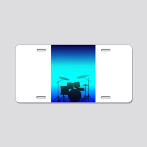 Halftone Band Poster Aluminum License Plate