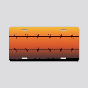 Barbe Wire Fence Aluminum License Plate