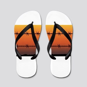 Barbe Wire Fence Flip Flops