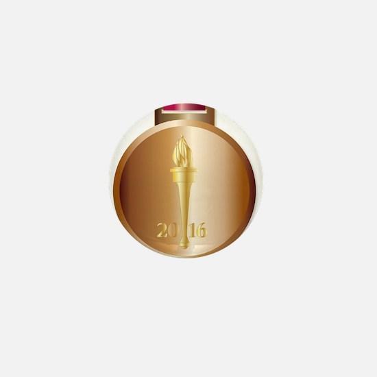 Bronze Medal Mini Button