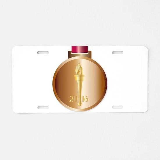 Bronze Medal Aluminum License Plate