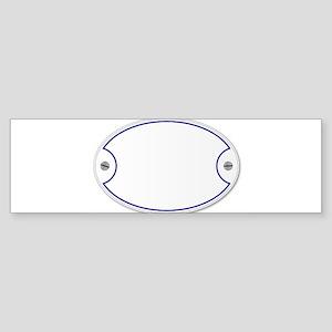 Porcelain Plaque Bumper Sticker