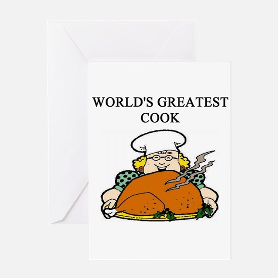 cook gifts t-shirts Greeting Card