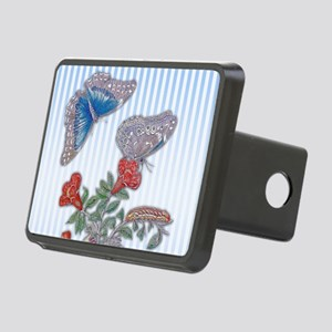 Blue Morpho Butterfly On P Rectangular Hitch Cover