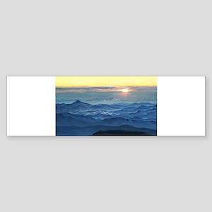 Sunrise over asheville north carolina Bumper Stick
