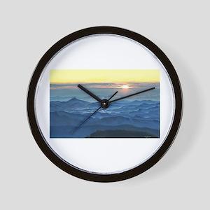 Sunrise over asheville north carolina Wall Clock