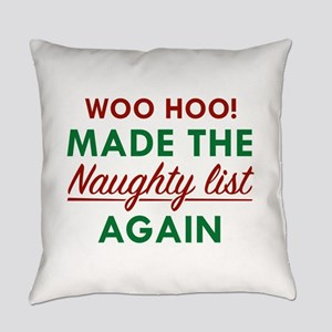 ChristmasMadeNaughtyList1D Everyday Pillow