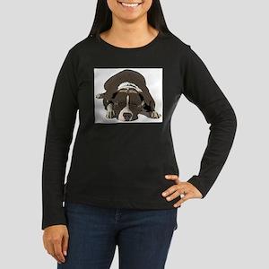 Sleepy Pit Bull look ahead Long Sleeve T-Shirt