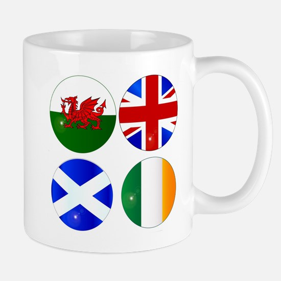 Buttons of the UK and Eire Mugs