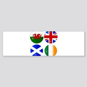 Buttons of the UK and Eire Bumper Sticker