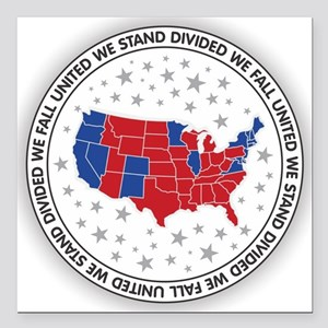 """United We Stand Square Car Magnet 3"""" x 3"""""""