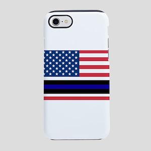 Police Blue Line iPhone 8/7 Tough Case