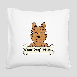 Personalized Australian Terri Square Canvas Pillow