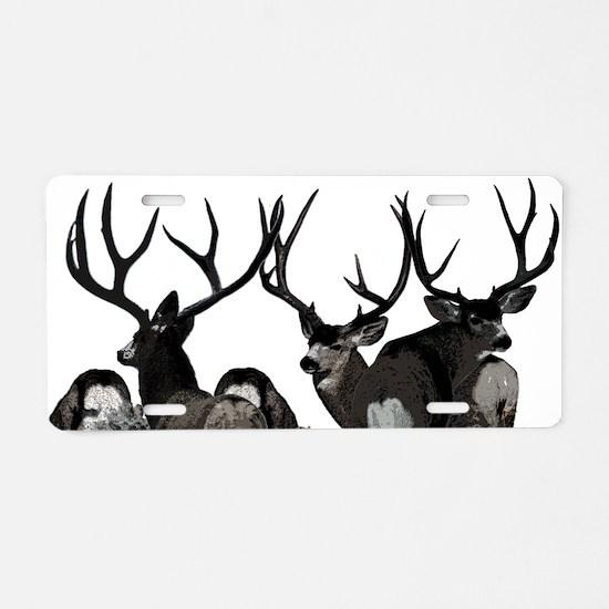 Monster buck deer Aluminum License Plate