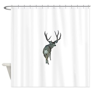 Funny Deer Hunting Shower Curtains