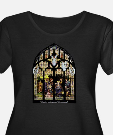 Stained Glass Nativity Plus Size T-Shirt