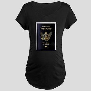 USA Diplomatic Passport Maternity T-Shirt