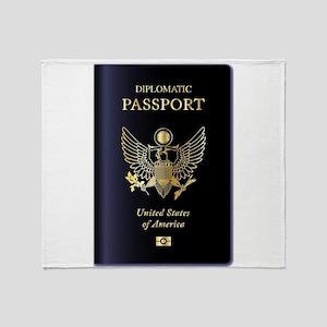 USA Diplomatic Passport Throw Blanket