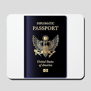 USA Diplomatic Passport Mousepad
