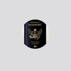 USA Diplomatic Passport Mini Button
