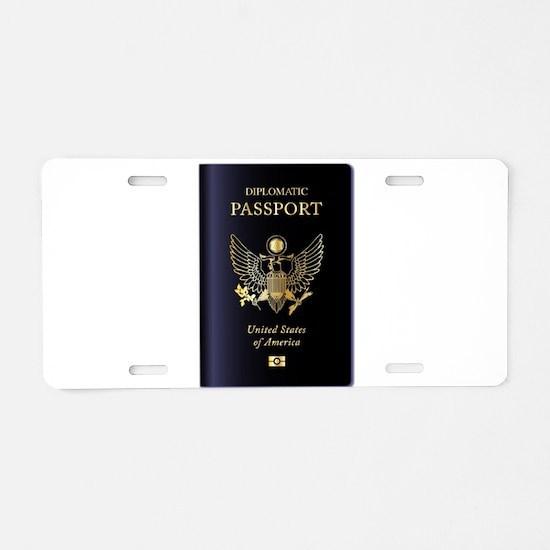 USA Diplomatic Passport Aluminum License Plate