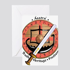 Wooden Shield Greeting Cards