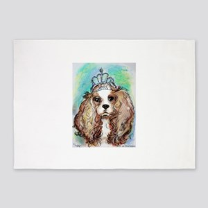 Princess, cute, dog, art! 5'x7'Area Rug