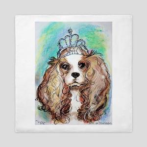 Princess, cute, dog, art! Queen Duvet