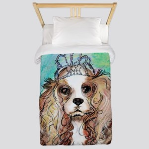 Princess, cute, dog, art! Twin Duvet