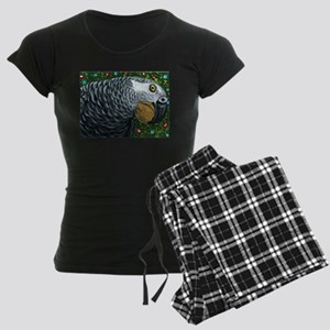 African Grey Parrot Christmas Nuts Pajamas