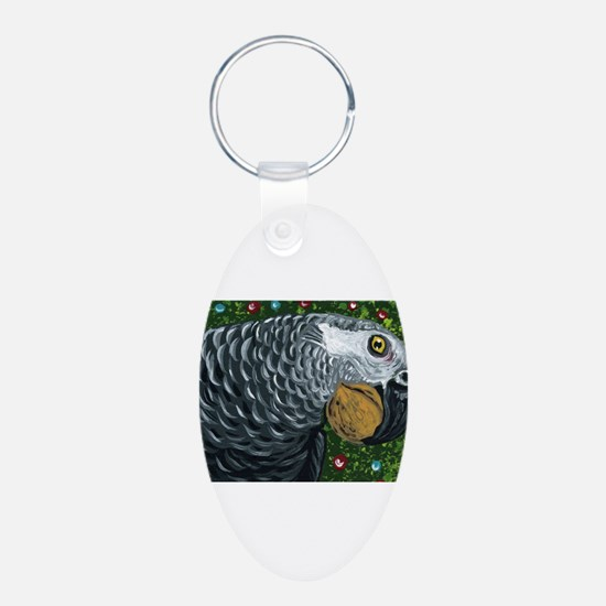 African Grey Parrot Christmas Nuts Keychains