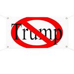 Red Slash Through Trump Anti-Trump Banner