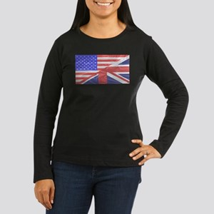 Union Jack and Stars and Strip Long Sleeve T-Shirt