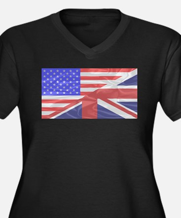 Union Jack and Stars and Stripes Plus Size T-Shirt