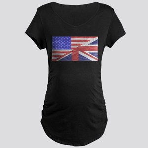 Union Jack and Stars and Stripes Maternity T-Shirt