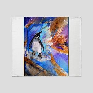 Penguin, wildlife art, Throw Blanket
