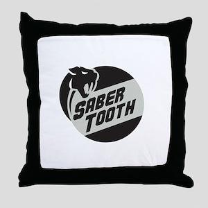 Saber Tooth Tiger Cat Head Circle Retro Throw Pill