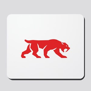 Saber Tooth Tiger Cat Silhouette Retro Mousepad