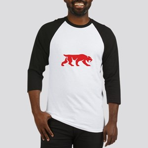 Saber Tooth Tiger Cat Silhouette Retro Baseball Je