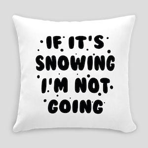 ChristmasSnowingGoing1B Everyday Pillow
