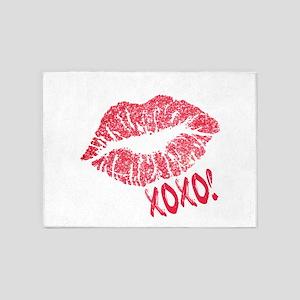 Glitter Kiss Sparkling Lips Sexy Li 5'x7'Area Rug