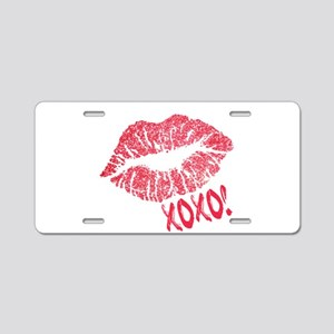Glitter Kiss Sparkling Lips Aluminum License Plate