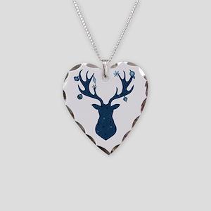 Mystical, Magical Christmas D Necklace Heart Charm