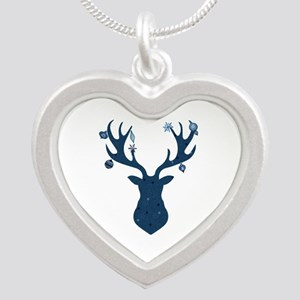 Mystical, Magical Christmas Deer Head Necklaces