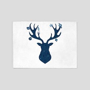 Mystical, Magical Christmas Deer He 5'x7'Area Rug