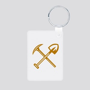 Pick Axe Shovel Crossed Retro Keychains